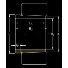 Основные размеры подшипника AHX 3222 G