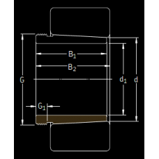 Основные размеры подшипника AOH 240/560 G