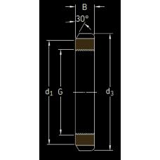 Основные размеры подшипника KM 25