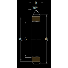 Основные размеры подшипника KM 29