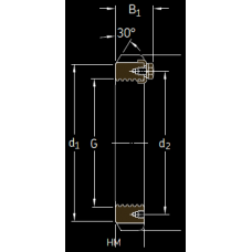 Основные размеры подшипника HM 3172