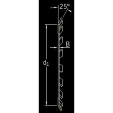 Основные размеры подшипника MB 7 A
