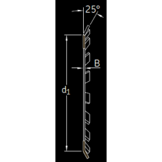 Основные размеры подшипника MB 18 A