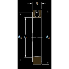 Основные размеры подшипника KMK 5