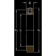 Основные размеры подшипника KMK 4