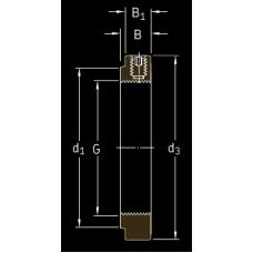 Основные размеры подшипника KMFE 9
