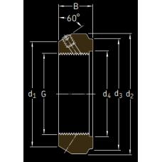 Основные размеры подшипника KMT 36