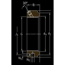 Основные размеры подшипника KMTA 34