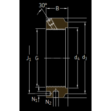 Основные размеры подшипника KMTA 36